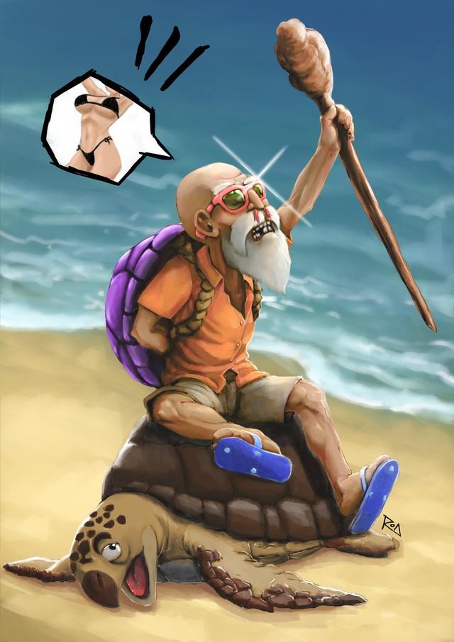 Xem bộ tranh fan art cực hài hước về quy lão Kame của Dragon Ball - Ảnh 6.