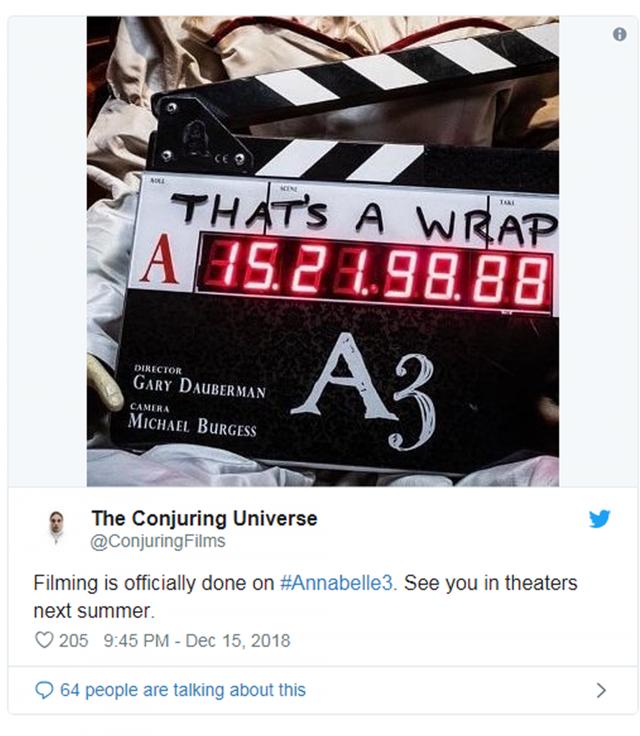 Annabelle 3 chính thức đóng máy, chuẩn bị tái xuất hù dọa khán giả vào mùa hè năm 2019 - Ảnh 3.