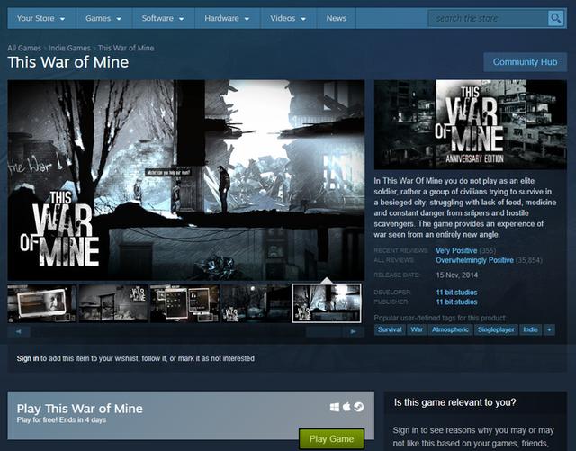 [Siêu khuyến mại] This War of Mine: Tuyệt tác game sinh tồn có một không hai - Ảnh 1.