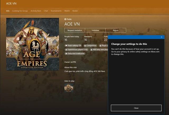 Với hệ thống Xbox Live, các tính năng về cộng đồng của AoE DE sẽ phát triển cực mạnh. Giờ đây, chỉ cần ngồi ở nhà, các bạn đã có thể tham gia vào các nhóm, hội, các giải đấu và sự kiện online...