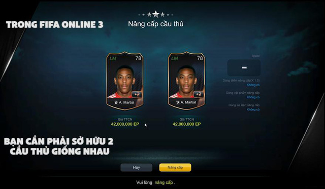 Đập thẻ mà không rõ tỉ lệ thành công sẽ trở thành dĩ vãng trong FIFA Online 3!
