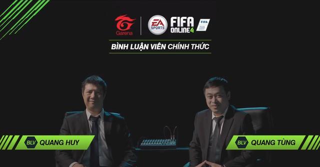 BLV Quang Huy và BLV Quang Tùng sẽ góp mặt vào phần bình luận ingame của FIFA Online 4.