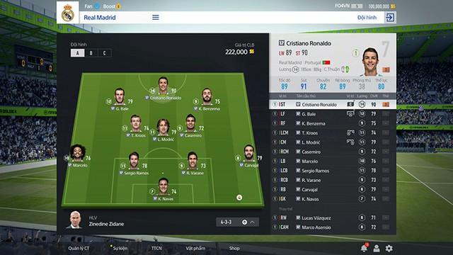 Sắp xếp đội hình giờ đã sống động hơn FIFA Online 3 nhiều.