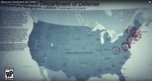 Bản đồ nước Mỹ với nhiều vùng khoanh đỏ