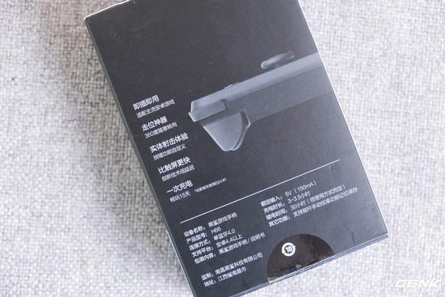 Mặt sau của hộp là một số thông tin về sản phẩm