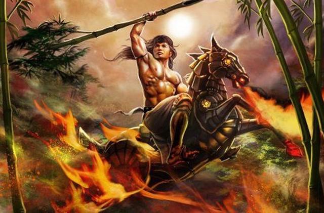 Rất có thể những vị thần tướng như Thánh Gióng cũng sẽ xuất hiện trong game Huyết Chiến Thiên Hạ (Ảnh sưu tầm từ Viet toon)
