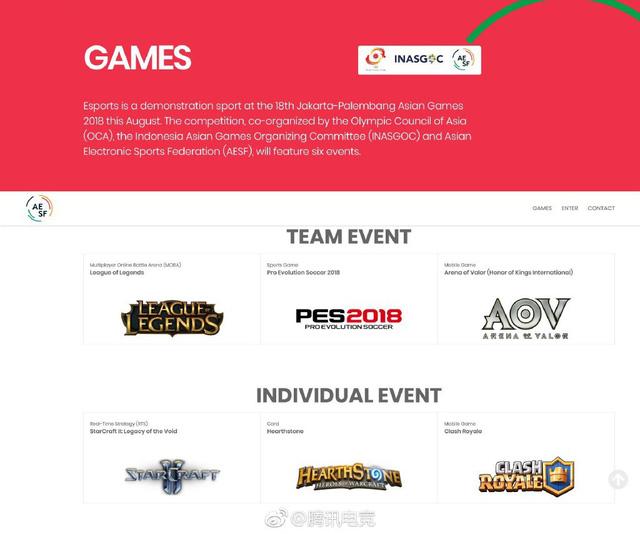 Các bộ môn eSports gây bất ngờ khi không có Dota 2, CS: GO hay thậm chí là cả Mobile Legends nữa.