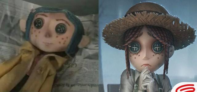 Nhân vật giống như con búp bê có đôi mắt hình cúc áo xuất hiện trong phim hoạt hình Coraline