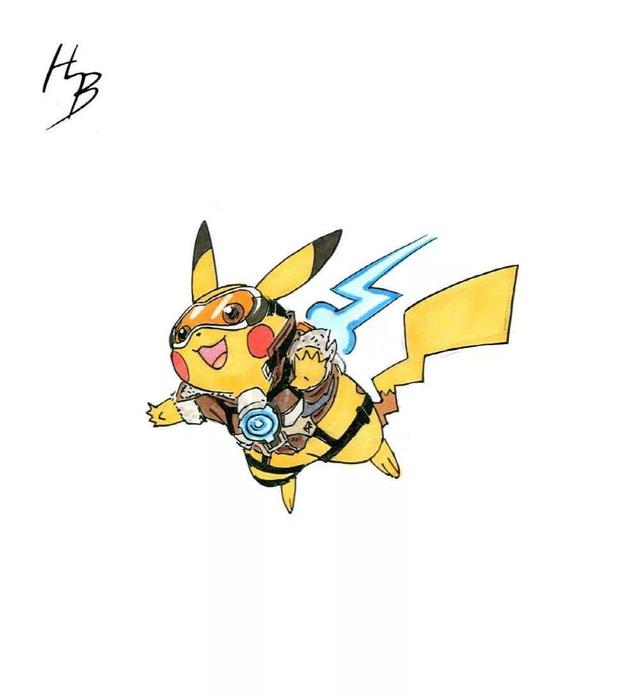 Chiêm ngưỡng bộ tranh khi các Pokemon vào vai các tướng Overwatch - Ảnh 1.