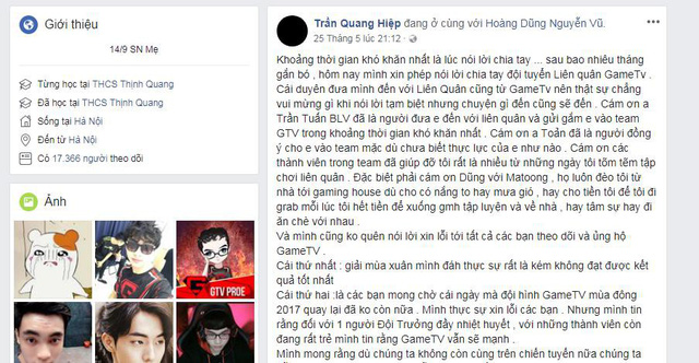 Dù không bị Garena cấm nhưng ProE quyết định không chơi cho GameTV ở vòng loại Việt Nam.