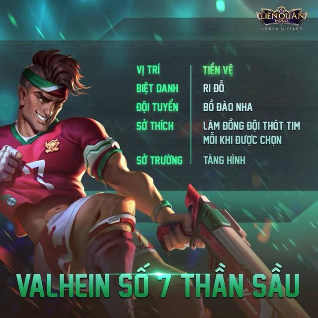 Valhein Ronaldo đã xuất hiện ở server chính thức của Liên Quân Mobile Việt Nam.