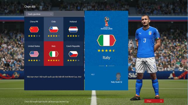Cả Ý, Hà Lan và Chile đều là những đội bóng tiếc nuối nhất khi bỏ lỡ cơ hội góp mặt vào VCK World Cup 2018 nhưng FO4 sẽ được đưa họ trở lại.