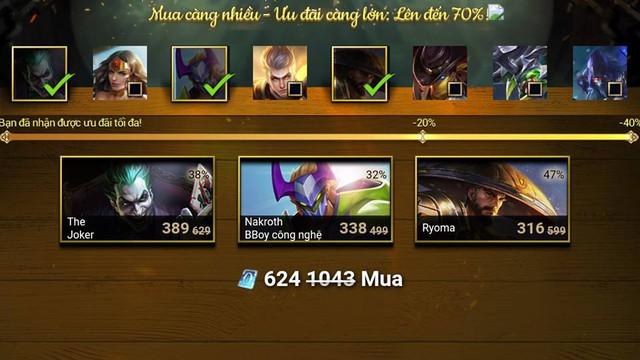 Game thủ có thể lựa chọn mua tối đa 3 vật phẩm trong 1 lượt.