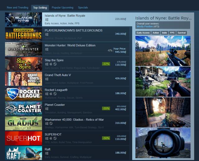 """Sụp đổ…! PUBG bị chính """"đàn em"""" Battle Royale khác vượt mặt ngay trên thánh địa Steam - Ảnh 1."""