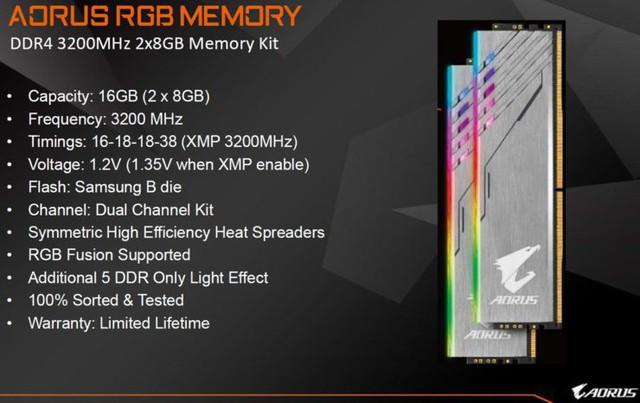 Gigabyte chính thức giới thiệu bộ RAM Aorus RGB đẹp ngất ngây cho game thủ - Ảnh 3.
