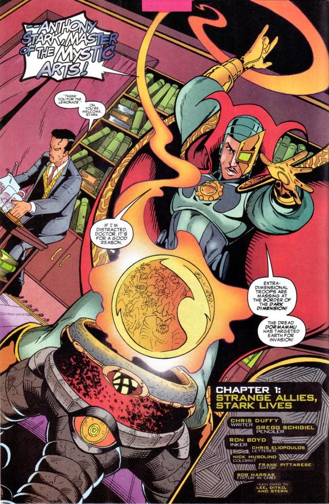 Comics Trivia: Có thể bạn chưa biết, Iron Man đã từng trở thành Phù Thuỷ Tối Thượng mạnh mẽ không kém Dr.Strange - Ảnh 1.