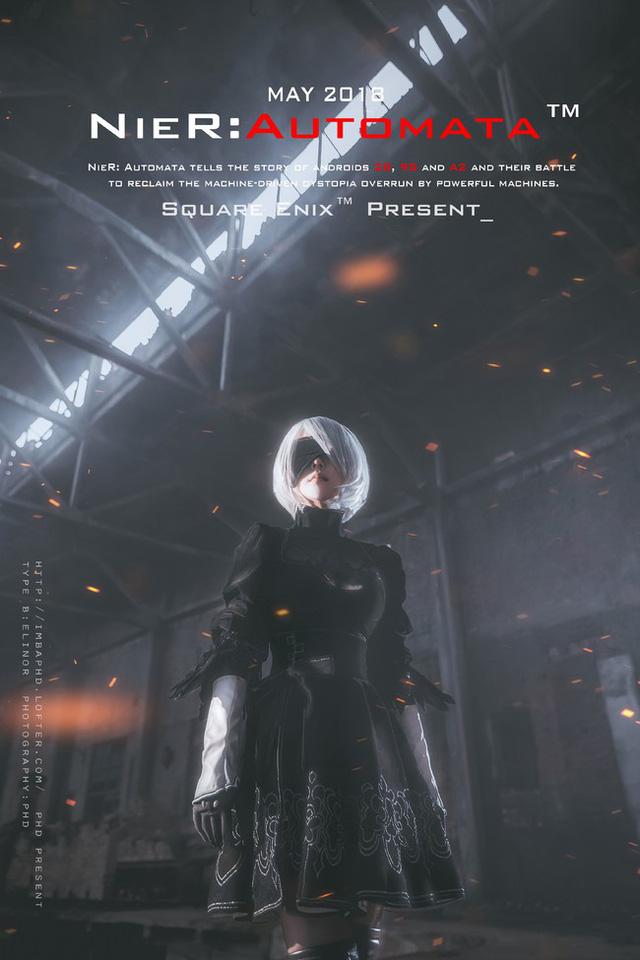 Bỏng mắt với cosplay về cô nàng 2B trong Nier: Automata - Ảnh 3.