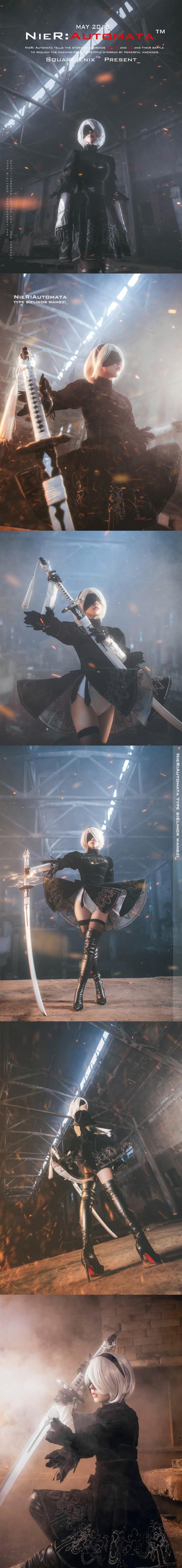 Bỏng mắt với cosplay về cô nàng 2B trong Nier: Automata - Ảnh 10.