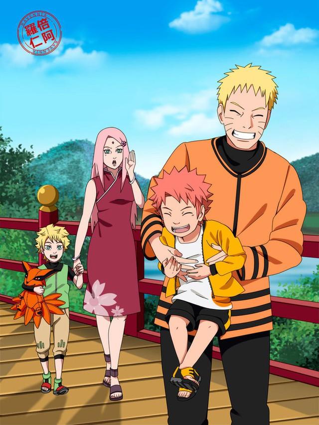 Vui là chính: Nếu Naruto và Sakura về chung một nhà thì con cái họ trông sẽ thế nào? - Ảnh 17.