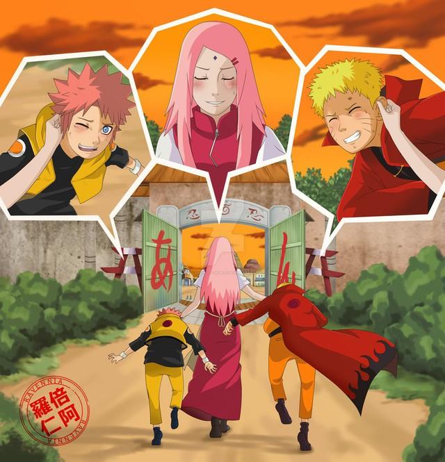 Vui là chính: Nếu Naruto và Sakura về chung một nhà thì con cái họ trông sẽ thế nào? - Ảnh 16.