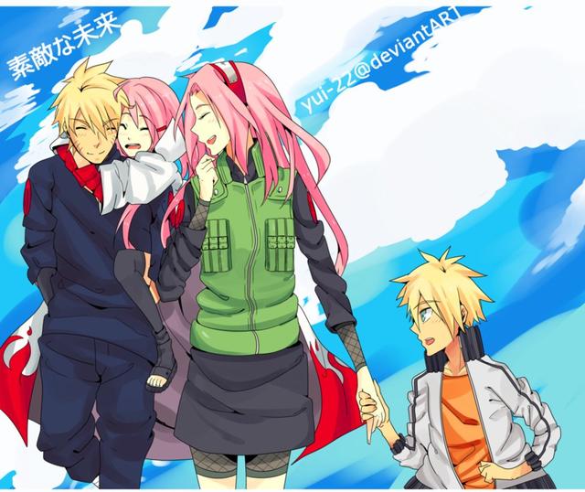 Vui là chính: Nếu Naruto và Sakura về chung một nhà thì con cái họ trông sẽ thế nào? - Ảnh 1.