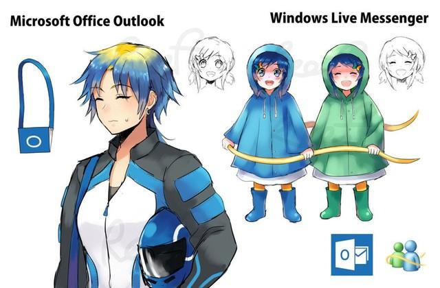 Ngạc nhiên trước những hình ảnh các phần mềm khô khan được nhân cách hóa thành trai xinh gái đẹp trong Anime - Ảnh 8.