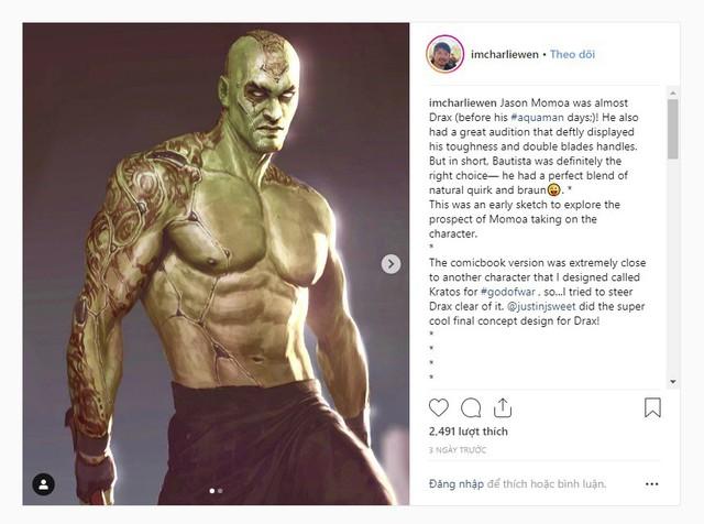 Suýt chút nữa, Jason Momoa đã trở thành người tàng hình Drax chứ không phải Thất Hải Chi Vương Aquaman - Ảnh 2.