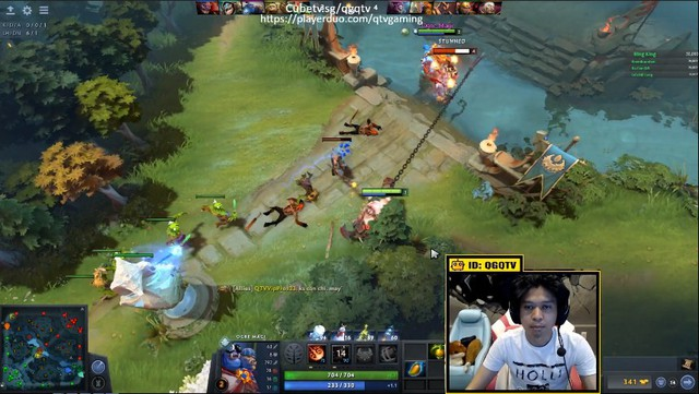 Tượng đài LMHT Việt - QTV phô diễn kỹ năng chơi Dota 2 trên Stream khiến cộng đồng game thủ không tiếc lời khen ngợi - Ảnh 1.