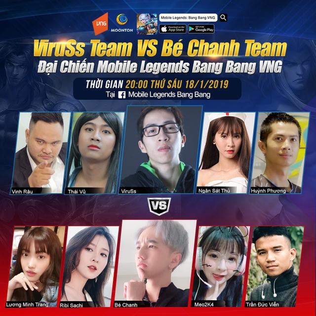 Mobile Legends: Bang Bang VNG - Viruss đại chiến Bé Chanh, cuộc chiến không khoan nhượng giữa hai thế hệ streamer - Ảnh 1.