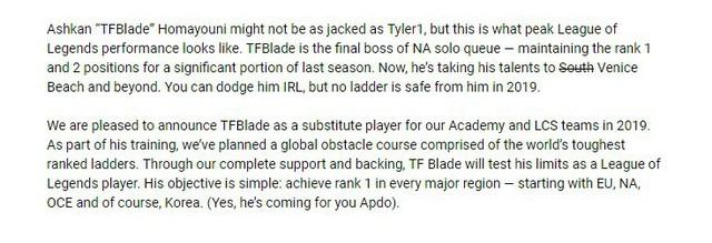 LMHT: Team Liquid đổ cả núi tiền đầu tư vào TFBlade với mục tiêu giúp game thủ này đánh bại...Dopa - Ảnh 3.