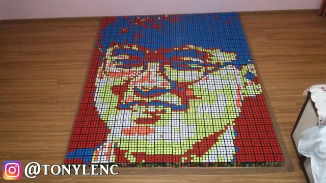 LMHT: Miệt mài phác họa chân dung Faker bằng 720 khối Rubik, fan cuồng chính hiệu là đây chứ đâu - Ảnh 3.