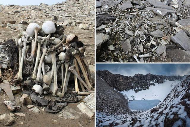 Bí ẩn chưa có lời giải về hồ nước chứa đầy xương người trên dãy Himalayas - Ảnh 2.