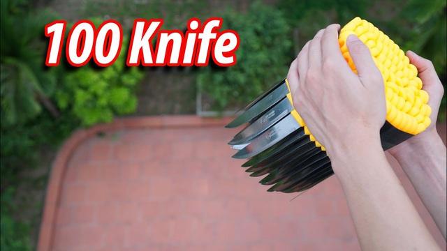 Làm clip Thả 100 con dao từ trên cao xuống, NTN khiến cộng đồng mạng quan ngại, cho rằng càng ngày càng xàm - Ảnh 2.