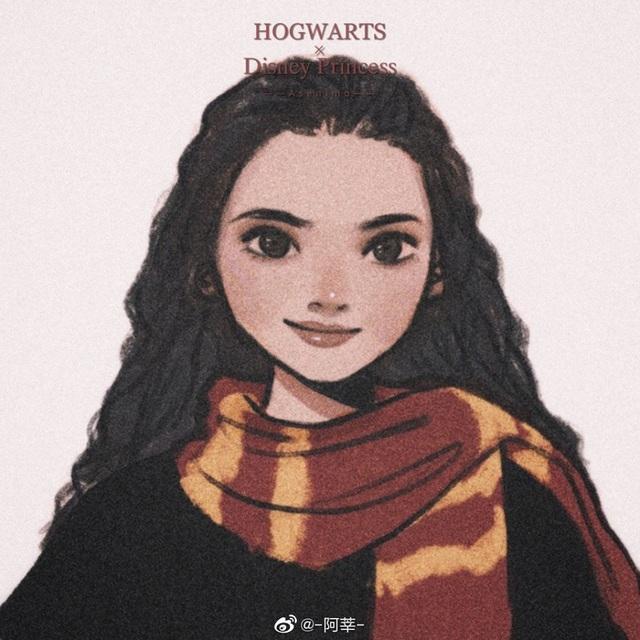 Lạ lẫm khi thấy dàn công chúa Disney du học đến trường Hogwarts trong Harry Potter - Ảnh 11.