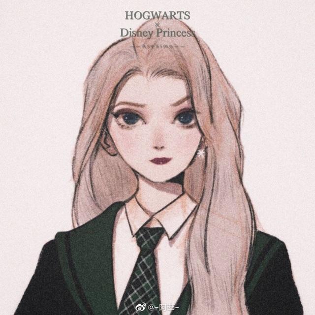 Lạ lẫm khi thấy dàn công chúa Disney du học đến trường Hogwarts trong Harry Potter - Ảnh 1.