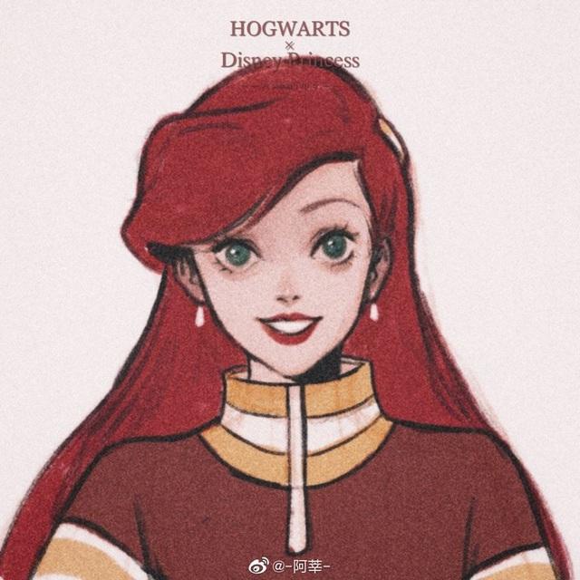 Lạ lẫm khi thấy dàn công chúa Disney du học đến trường Hogwarts trong Harry Potter - Ảnh 4.