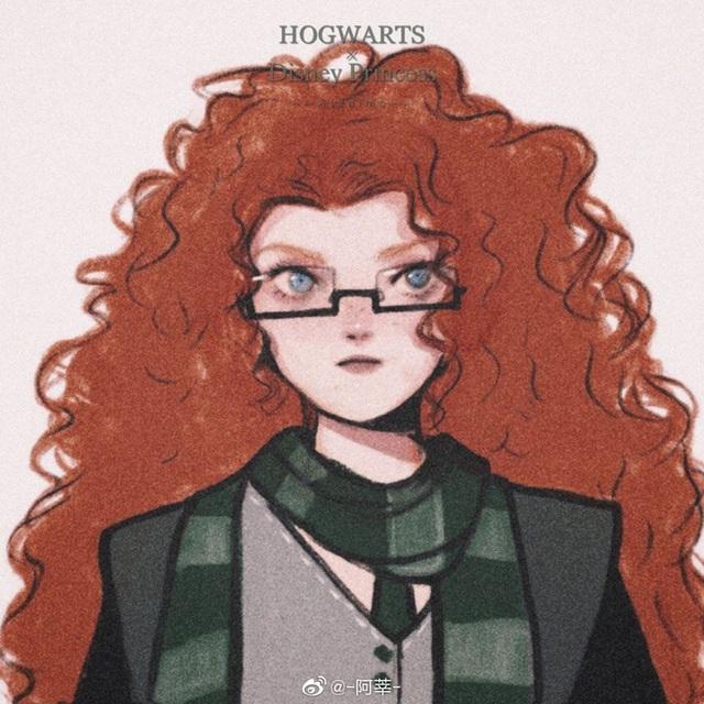 Lạ lẫm khi thấy dàn công chúa Disney du học đến trường Hogwarts trong Harry Potter - Ảnh 14.