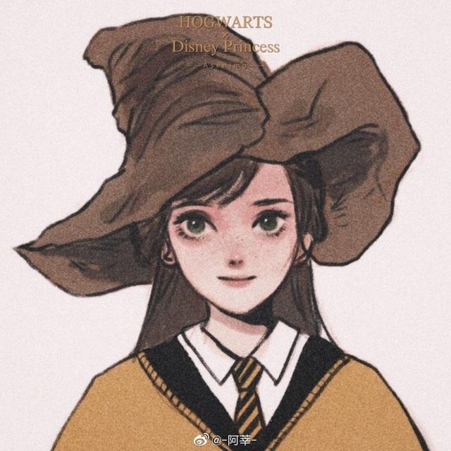Lạ lẫm khi thấy dàn công chúa Disney du học đến trường Hogwarts trong Harry Potter - Ảnh 7.