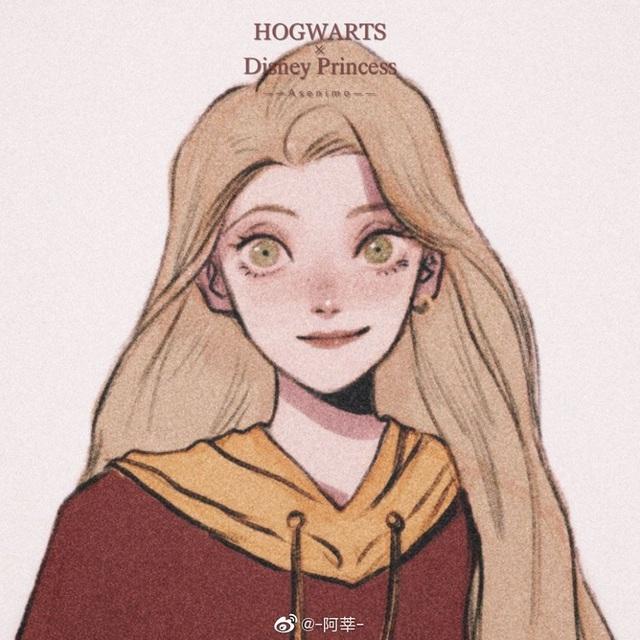 Lạ lẫm khi thấy dàn công chúa Disney du học đến trường Hogwarts trong Harry Potter - Ảnh 2.