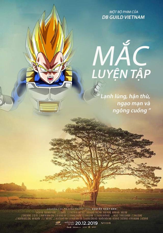 Chết cười với loạt ảnh chế Dragon Ball lấy cảm hứng từ poster phim Mắt Biếc - Ảnh 2.