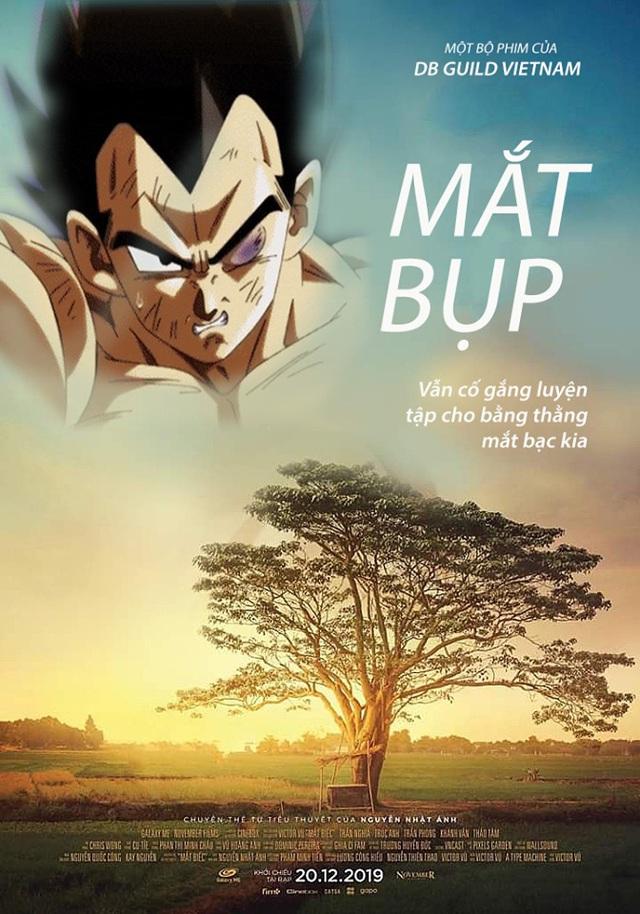 Chết cười với loạt ảnh chế Dragon Ball lấy cảm hứng từ poster phim Mắt Biếc - Ảnh 3.