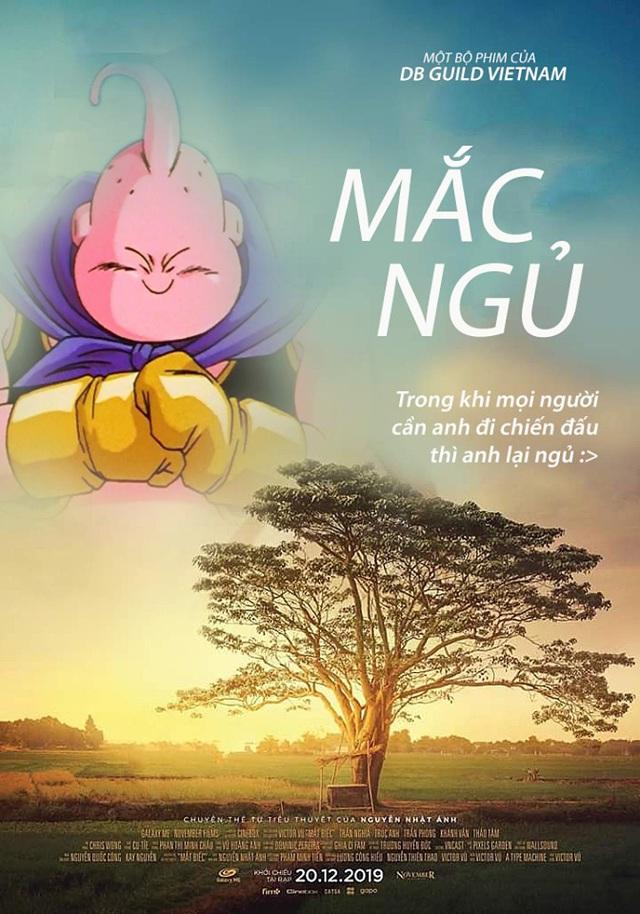 Chết cười với loạt ảnh chế Dragon Ball lấy cảm hứng từ poster phim Mắt Biếc - Ảnh 6.