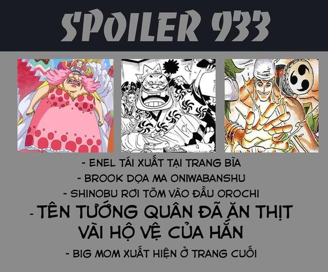 One Piece 933: Thần Sấm Sét Enel trở lại, Nami triệu hồi Zeus giáng một đòn cực mạnh vào người Tướng quân Orochi - Ảnh 1.