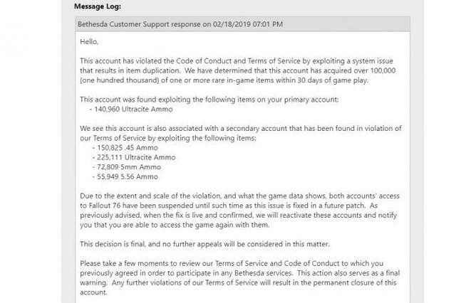 Chơi 900 giờ liên tục, game thủ Fall Out 76 bị nhà phát hành ban thẳng cánh vì kiếm được quá nhiều vật phẩm - Ảnh 2.