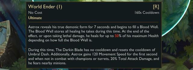 LMHT: Riot làm lại Chiêu cuối của Aatrox - loại bỏ khả năng hồi sinh nhưng bù lại thời gian hồi chiêu giảm gần bằng 0 - Ảnh 2.
