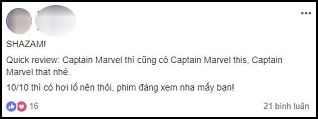 Khán giả Việt sau suất chiếu sớm phát cuồng vì Shazam: Phim siêu anh hùng lầy lội nhất từ trước đến nay - Ảnh 14.