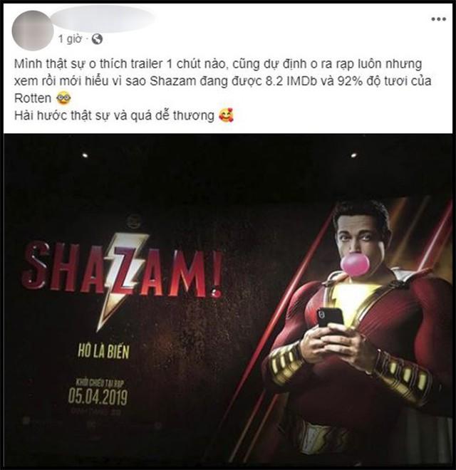 Khán giả Việt sau suất chiếu sớm phát cuồng vì Shazam: Phim siêu anh hùng lầy lội nhất từ trước đến nay - Ảnh 3.