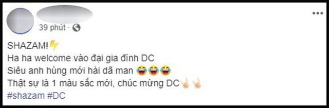 Khán giả Việt sau suất chiếu sớm phát cuồng vì Shazam: Phim siêu anh hùng lầy lội nhất từ trước đến nay - Ảnh 4.