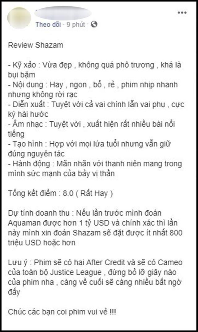 Khán giả Việt sau suất chiếu sớm phát cuồng vì Shazam: Phim siêu anh hùng lầy lội nhất từ trước đến nay - Ảnh 7.