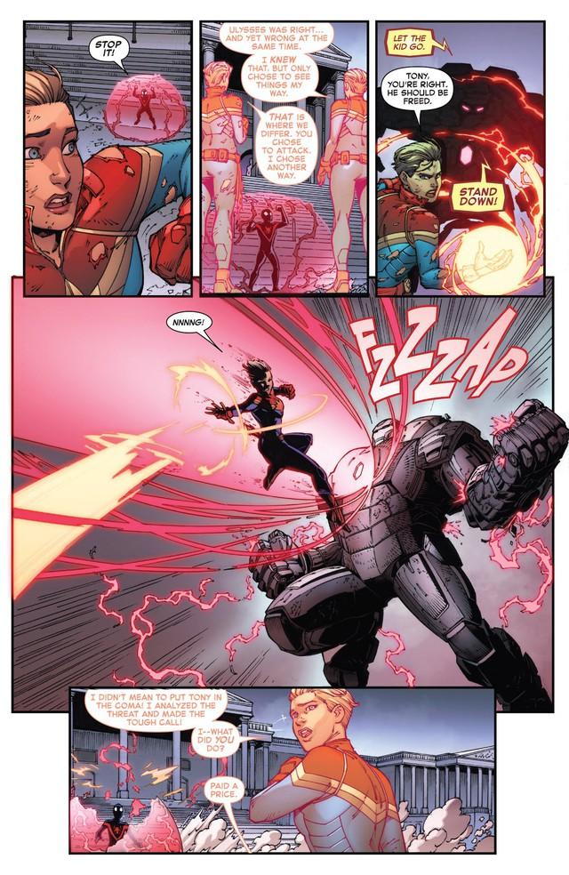 Tạo riêng một siêu chiến giáp để khắc chế Captain Marvel, nhưng Iron Man vẫn bị bán hành đến hôn mê bất tỉnh - Ảnh 6.